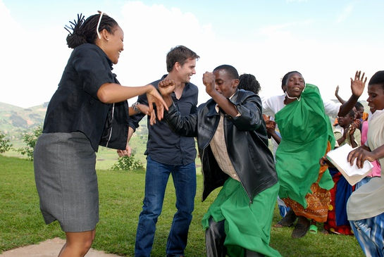Jeff Gordon Dances With The Locals in Rwanda