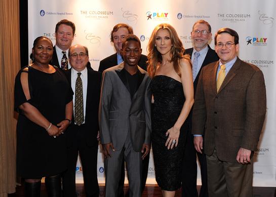 Mrs. Green, Dr. Matthew Heeney, Dr. Stu Orkin, Gary Loveman, singer/songwriter A.J. Green, Celine Dion, Dr. Gary Fleisher and Dr. Dave Williams