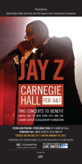 Jay Z Carnegie Hall