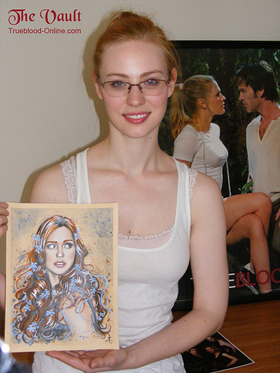 Deborah Ann Woll With Portrait