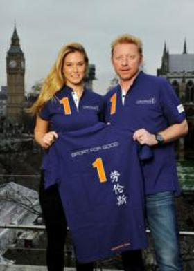 Bar Rafaeli and Boris Becker