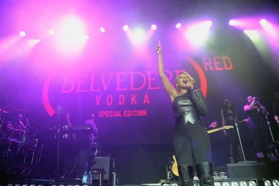 Mary J Blige Belvedere RED
