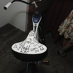 Hugh Laurie Joins Glee Stars In Signing Bike For Charity