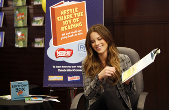 Kate Beckinsale Nestle Joy of Reading