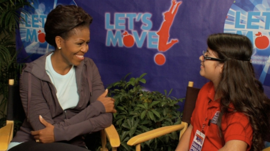 Michelle Obama Is Interviewed By 11-year-old Scholastic News Kid Reporter Topanga Sena