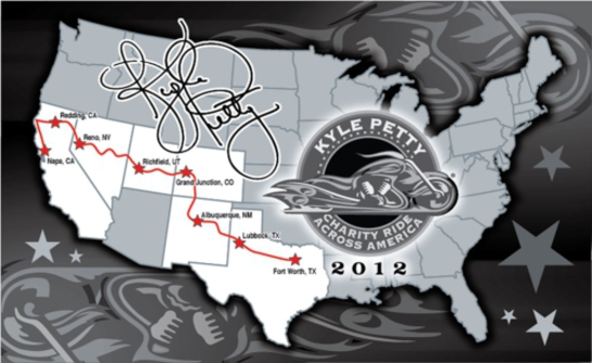 Kyle Petty Charity Ride 2012 route.