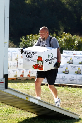 Mark Cornelison was awarded 30,000 pounds of food from Newman's Own to donate to his local Feeding America food bank