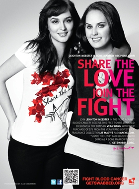 Leighton Meester and Vera Wang Invite You To Fight Blood Cancer With DKMS