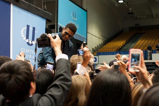 Usher at the CGI-U Opening Plenary