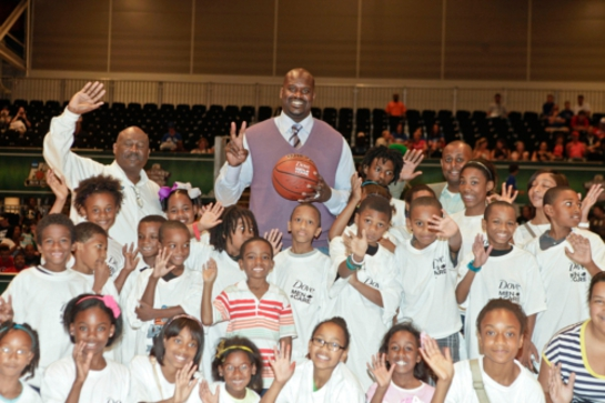 Shaq O'Neal and Boys and Girls Club of Southeast Louisiana During NCAA Final Four Weekend