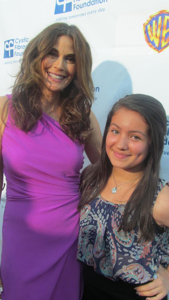 Teri Hatcher and Isabella Rae Thomas