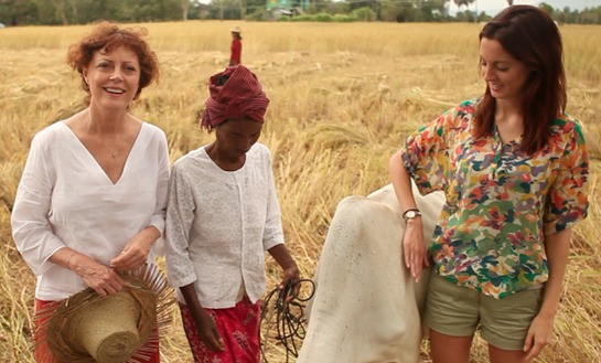 Susan Sarandon and Eva in Cambodia