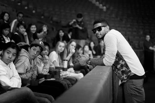 Usher with New Look Kids
