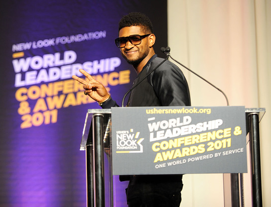 Usher at World Leadership Conference