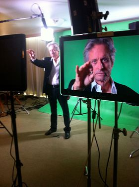 Michael Douglas Filming Got Your 6 PSA