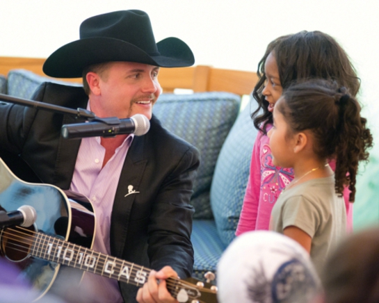 John Rich with kids