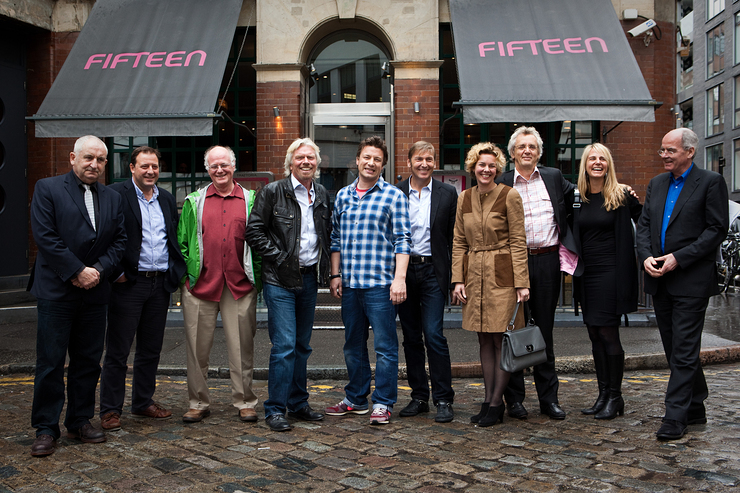 Richard Branson Jamie Oliver and the speakers at the screw business as usual summit