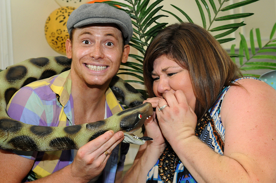 Joe Swash and Cheryl Fergison at 2012 Little Star Awards