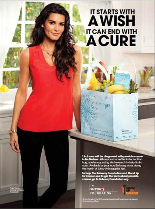 Angie Harmon supports SU2C and the Safeway Foundation