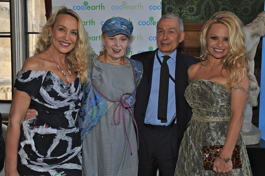 Jerry Hall, Vivienne Westwood, Frank Field and Pamela Anderson