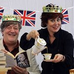 Stephen Fry And Ruby Wax Host Great British Tea Party For Oxfam