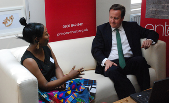 David Cameron Visits The Prince's Trust