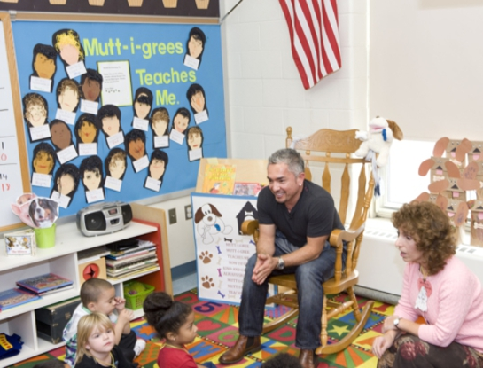 Cesar Millan urges schools to raise awareness about shelter pets