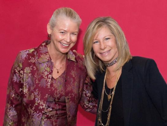 C. Noel Bairey Merz, MD, a cardiologist and Barbra Streisand.