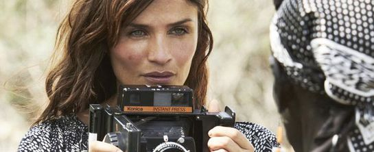 Helena Christensen with Oxfam