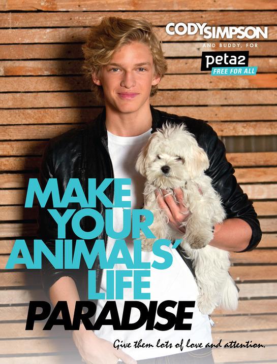 Cody Simpson's PETA Ad