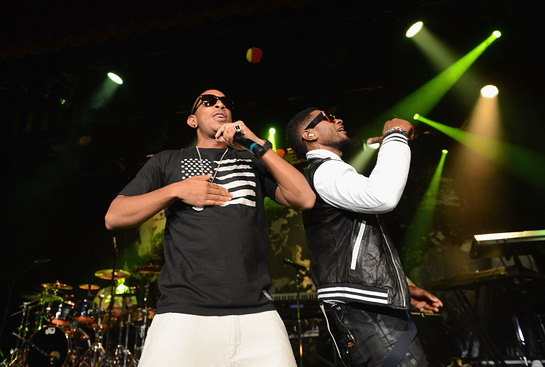 Usher was joined by Ludacris onstage