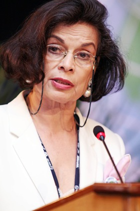 Bianca Jagger, Plant a Pledge Campaign Ambassador, and Founder and Chair of the Bianca Jagger Human Rights Foundation
