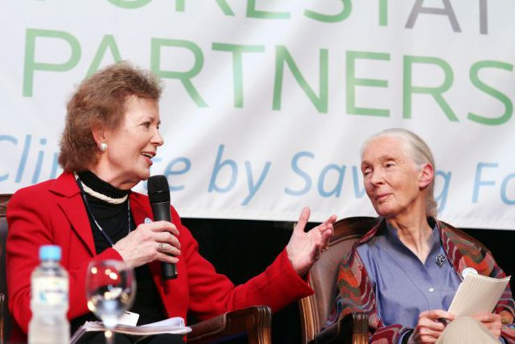 The Hon. Mary Robinson, President of The Mary Robinson Foundation-Climate Justice and former President of Ireland and Dr. Jane Goodall, DBE, Founder, the Jane Goodall Institute and UN Messenger of Peace