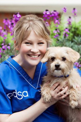 PDSA Ambassador, Joanna Page, with pet pal Meggie