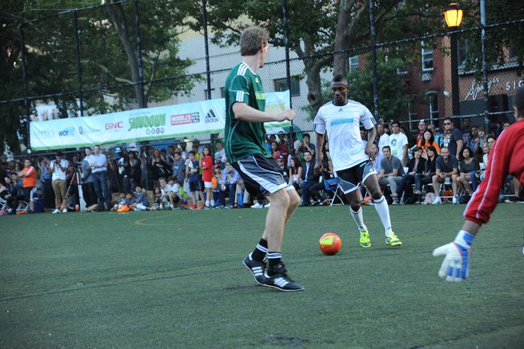 Game MVP, Salomon Kalou, in action