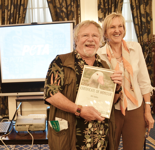 Bill Oddie Presented With Award From PETA