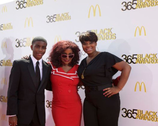 Chaka Khan shares the spotlight on the red carpet with fellow honorees, teenage medical innovator Tony Hansberry, II, and youth empowerment activist Mary-Pat Hector