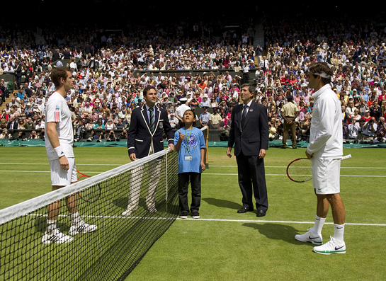 Elijah Flips The Coin At Wimbledon