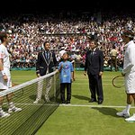 Make-A-Wish Boy Flips Coin At Wimbledon Final