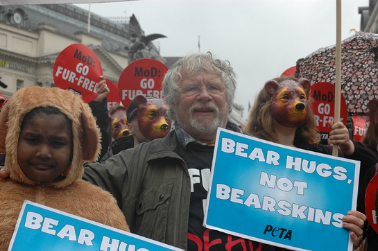 Bill Oddie Marches For Bears