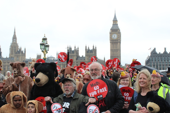 Bill Oddie And Peter Egan March For Bears