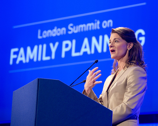 Melinda French Gates, co-chair and trustee of Bill & Melinda Gates Foundation, The London Summit on Family Planning