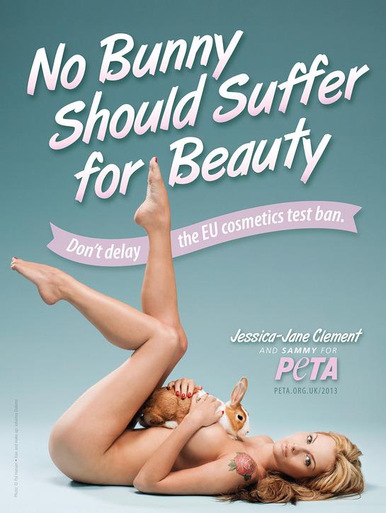 Jessica-Jane Clement PETA ad