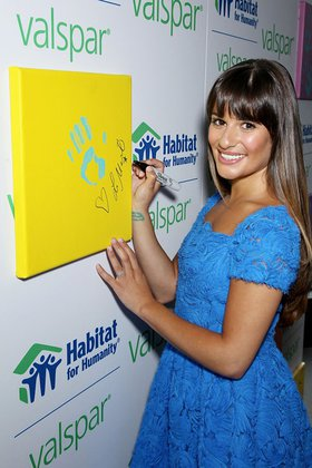 Lea Michele and Valspar Hands for Habitat