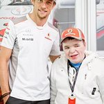 Jenson Button Grants Wish To Boy With Genetic Disorder