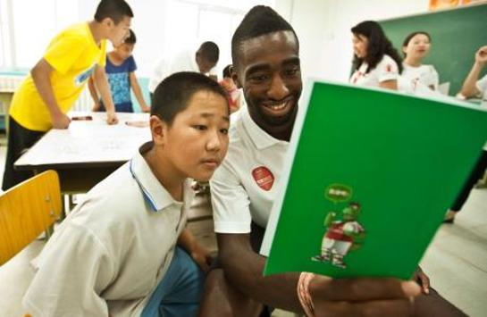 Arsenal's Johan Djourou in China