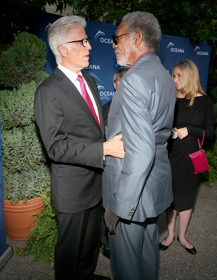 Ted Danson and Morgan Freeman at Oceana SeaChange Party