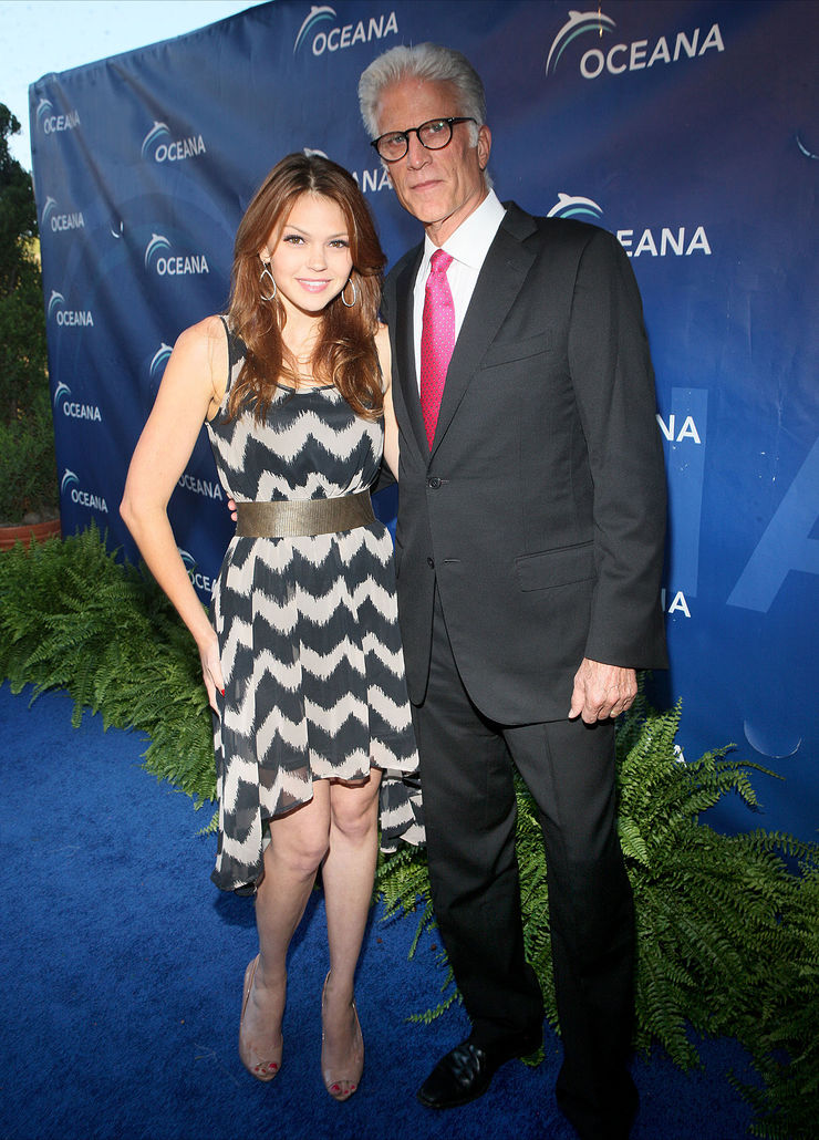 Aimee Teegarden and Ted Danson