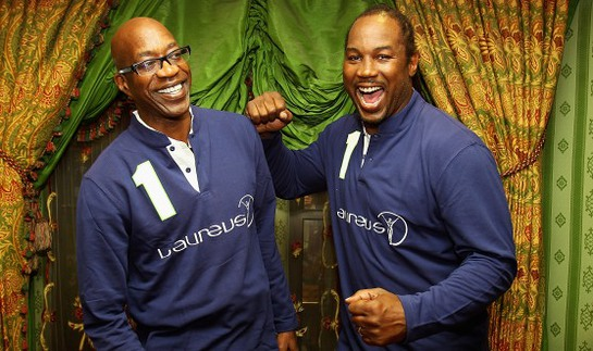 Edwin Moses and Lennox Lewis