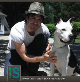 Ian Somerhalder and friend